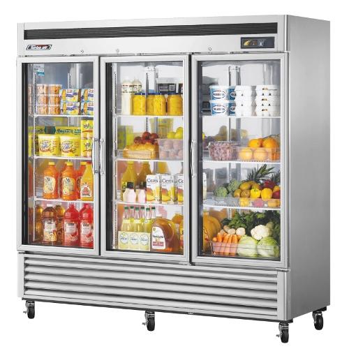 72 Cu. Ft. Super Deluxe Glass Door Reach-In Refrigerator
