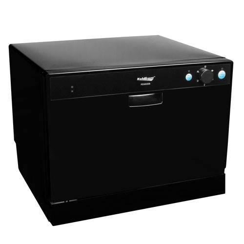 Koldfront 6 Place Setting Countertop Dishwasher - Black