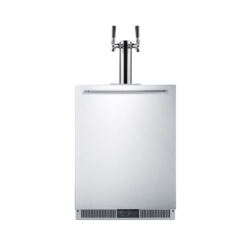 Summit Built-In Frost-Free Double Tap Beer Dispenser