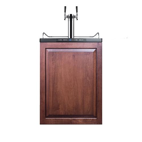 Commercial Built-In Dual Faucet Beer Kegerator - Full Overlay Door