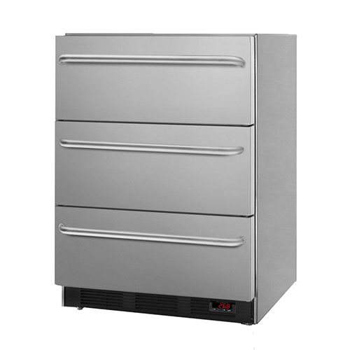 Summit 3.2 Cu. Ft. Built-In Professional 3-Drawer Freezer