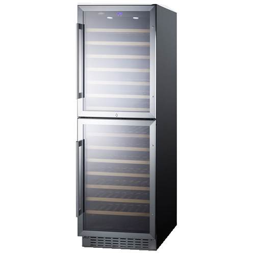 Summit 24 Inch Built-In 118 Bottle Dual Zone Wine Cellar