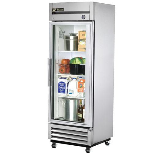 True T-Series 19 Cu. Ft. Reach-In Glass Swing Door Refrigerator
