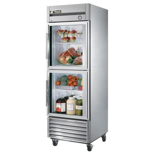 True T-Series 23 Cu. Ft. Reach-In Glass Half Swing Door Refrigerator