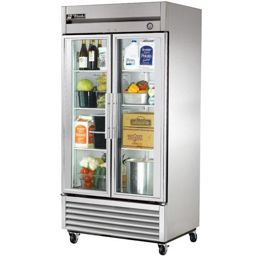 True T-Series 35 Cu. Ft. Reach-In Glass Swing Door Refrigerator