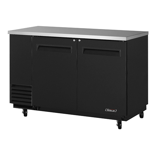 Turbo Air 59  Two Solid Door Back Bar Refrigerator