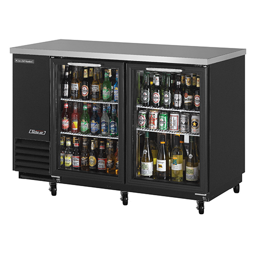 Turbo Air 59  Two Glass Door Back Bar Refrigerator