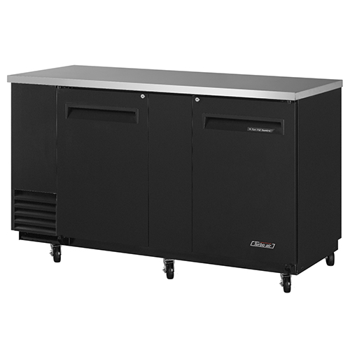 Turbo Air 69  Two Solid Door Back Bar Refrigerator