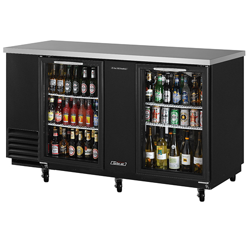 Turbo Air 69  Two Glass Door Back Bar Refrigerator