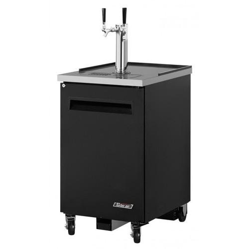 Turbo Air 1 Keg Beer Dispenser Kegerator - Black