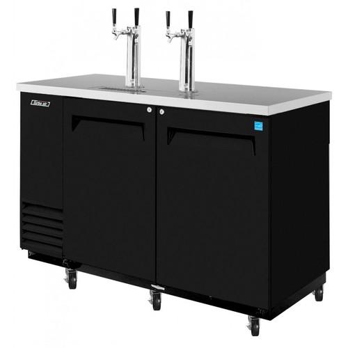 Turbo Air 2 Keg Beer Dispenser Kegerator - Black
