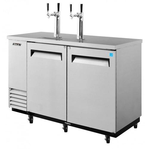 Turbo Air 2 Keg Beer Dispenser Kegerator - Stainless
