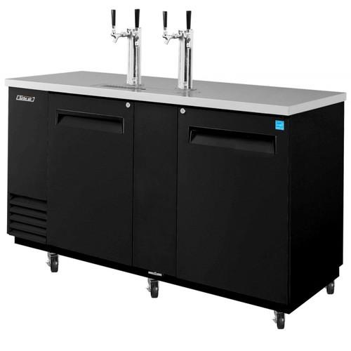 Turbo Air 3 Keg Beer Dispenser Kegerator - Black