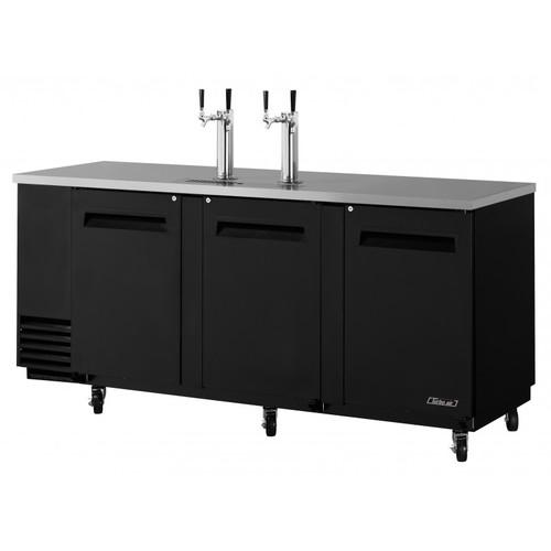 Turbo Air 4 Keg Beer Dispenser Kegerator - Black