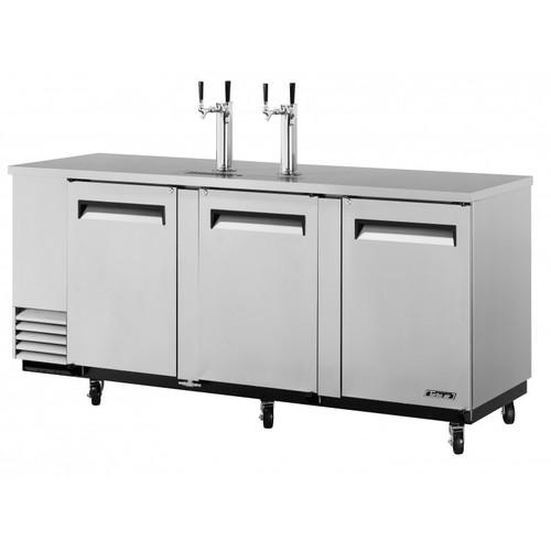 Turbo Air 4 Keg Beer Dispenser Kegerator - Stainless