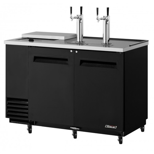 Turbo Air 2 Keg Beer Dispenser Club Top- Black