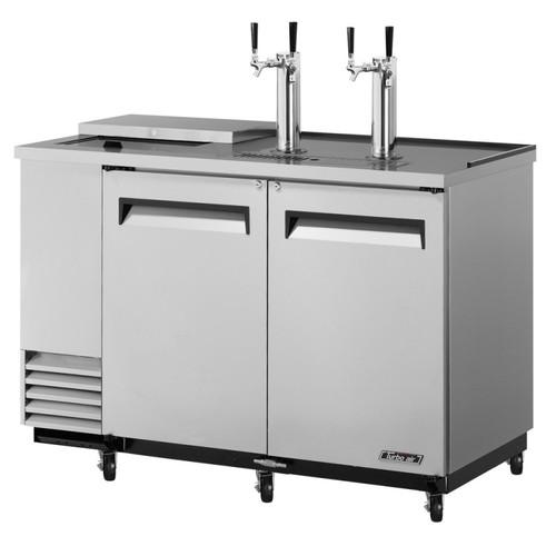 Turbo Air 2 Keg Beer Dispenser Club Top - Stainless