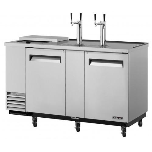 Turbo Air 3 Keg Beer Dispenser Club Top - Stainless