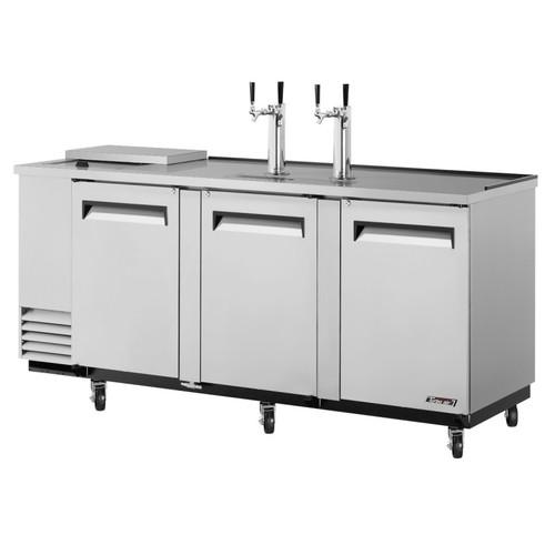 Turbo Air 4 Keg Beer Dispenser Club Top - Stainless