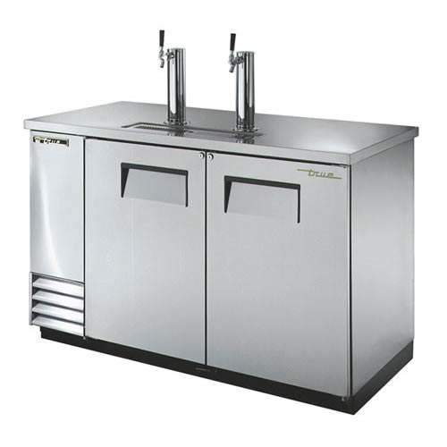 True 2 Keg Stainless Steel Direct Draw Beer Dispenser
