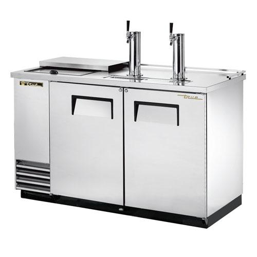 True 2 Keg Stainless Steel Club Top Direct Draw Beer Dispenser