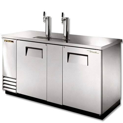 True 3 Keg Stainless Steel Direct Draw Beer Dispenser