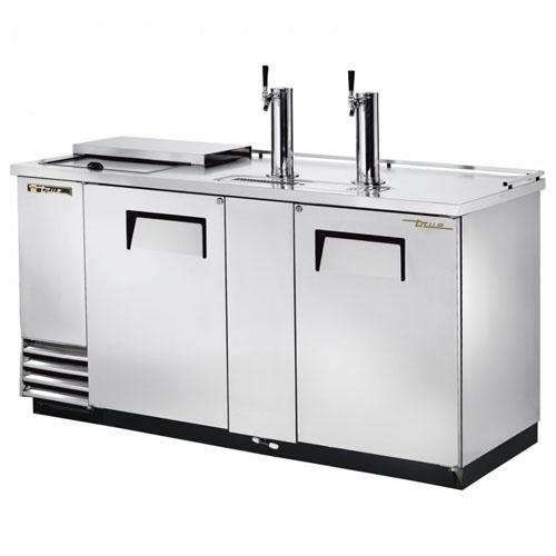 True 3 Keg Stainless Steel Club Top Direct Draw Beer Dispenser