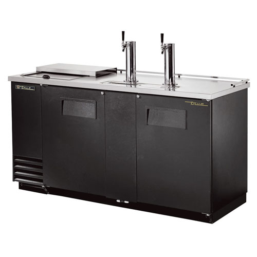 True 3 Keg Club Top Direct Draw Beer Dispenser