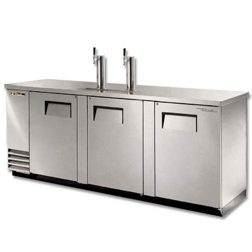 True 4 Keg Stainless Steel Direct Draw Beer Dispenser