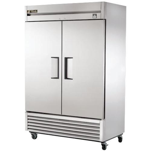 True 49 Cu. Ft. Reach-In Solid Dual Door Stainless Steel Freezer