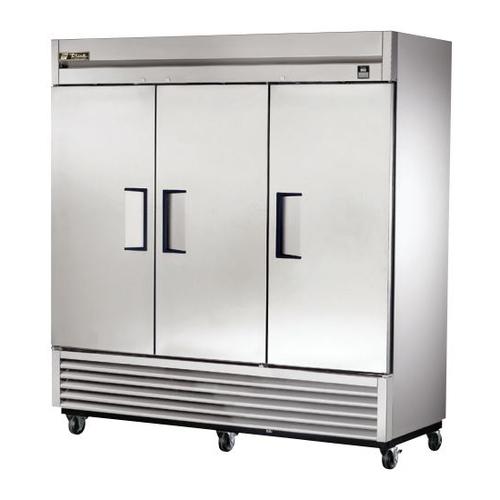 True 72 Cu. Ft. Reach- In Solid Triple Door Stainless Steel Freezer