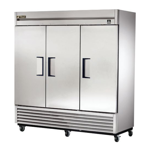True 72 Cu. Ft. Reach- In Solid Triple Door Stainless Steel Refrigerator