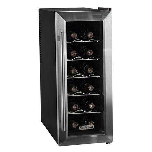 Koldfront 12 Bottle Stainless Steel Slim-Fit Wine Cooler