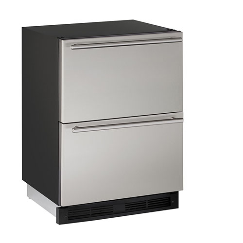 U-Line 24  Refrigerator Drawers-Stainless Steel