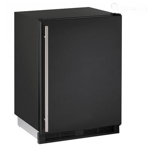 U-Line 24  Built-In Refrigerator/Freezer-Black