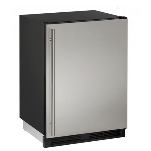 U-Line 24  Built-In Refrigerator/Freezer-Stainless Steel