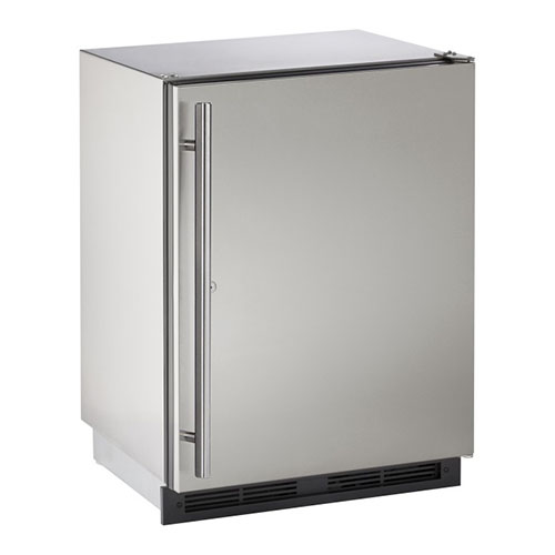 U-Line 24  Outdoor Refrigerator with Lock-Stainless Steel