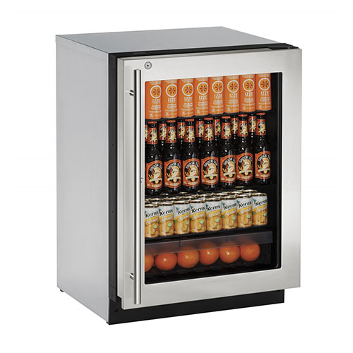 U-Line 24  Built-In Refrigerator with Lock-Left Hinge