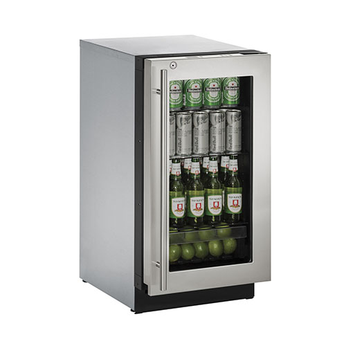 U-Line 18  Built-In Refrigerator with Lock-Right Hinge