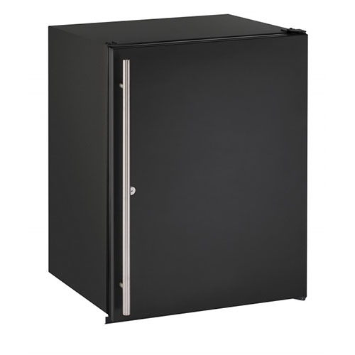 U-Line 24  ADA Built-In Refrigerator with Lock-Black