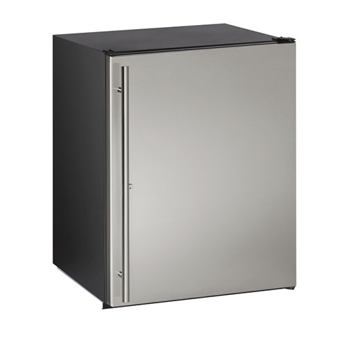 U-Line 24  ADA Built-In Refrigerator with Lock-Stainless Steel