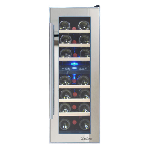 Vinotemp 21 Bottle Dual Zone Thermoelectric Mirrored Wine Cooler