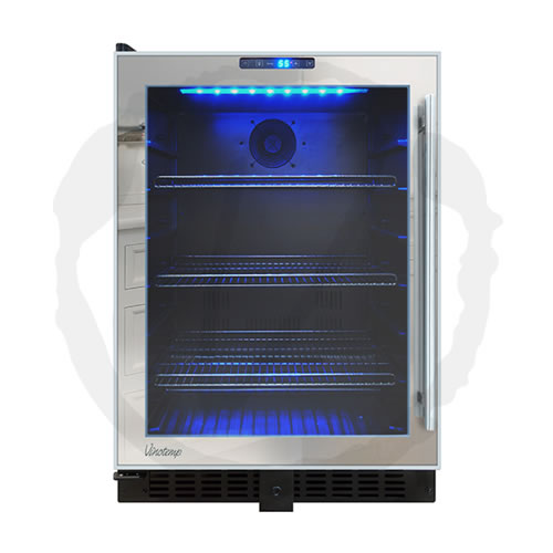 Vinotemp 120 Can Mirrored Touch Screen Beverage Cooler