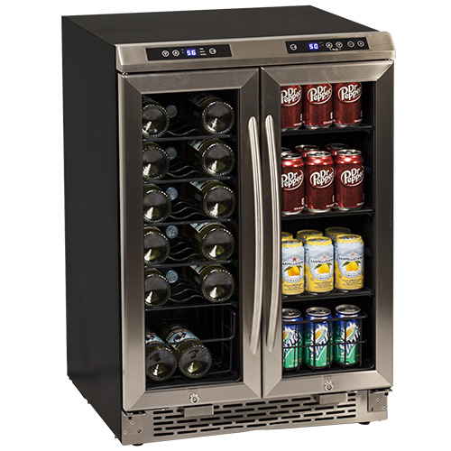 Avanti 19 Bottle French Door Wine and Beverage Cooler