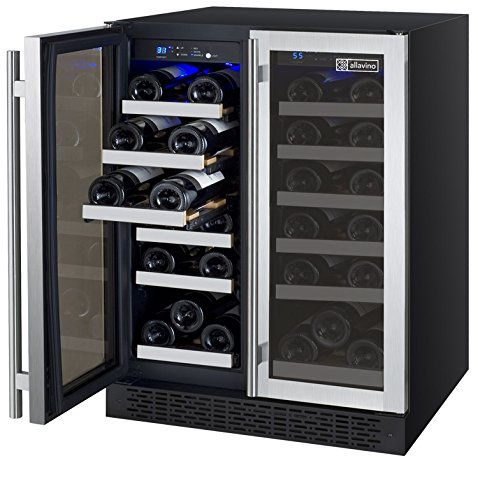 Allavino VSWR36-2SSFT - 36 Bottle Dual Zone Wine Refrigerator - Towel Bar Handle